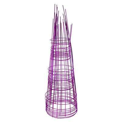Blazin Gemz Collection 33 in. Amethyst Purple Tomato Plant Support (10-Pack)