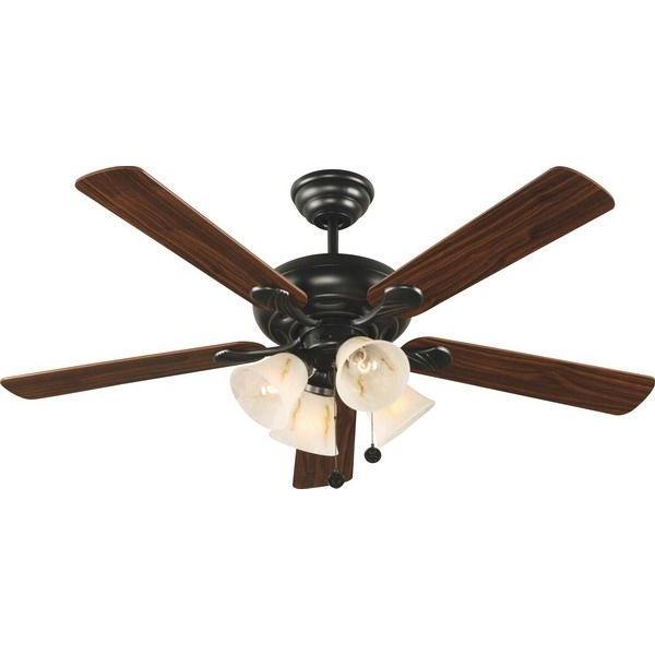 Hampton Bay Portsea 52 in. Black Ceiling Fan