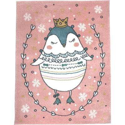 Multi-Color Kids Children and Teen Bedroom Playroom Princess Sophie The Penguin 4 ft. x 5 ft. Area Rug