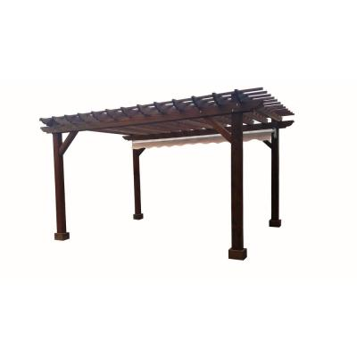 14 ft. x 14 ft. Mission Brown Redwood Pergola