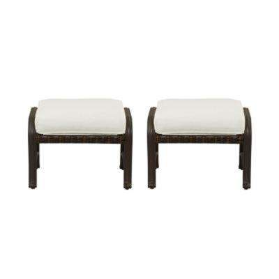 Pembrey Patio Ottoman with Cushion Insert (2-Pack) (Slipcovers Sold Separately)