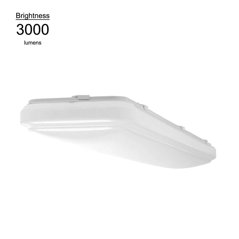 Hampton Bay 4 ft. x 1 ft. White LED Rectangular Ceiling Flushmount
