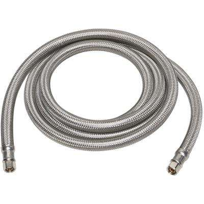 1/4 in. Compression x 1/4 in. Compression x 60 in. Steel Braided Ice Maker Connector