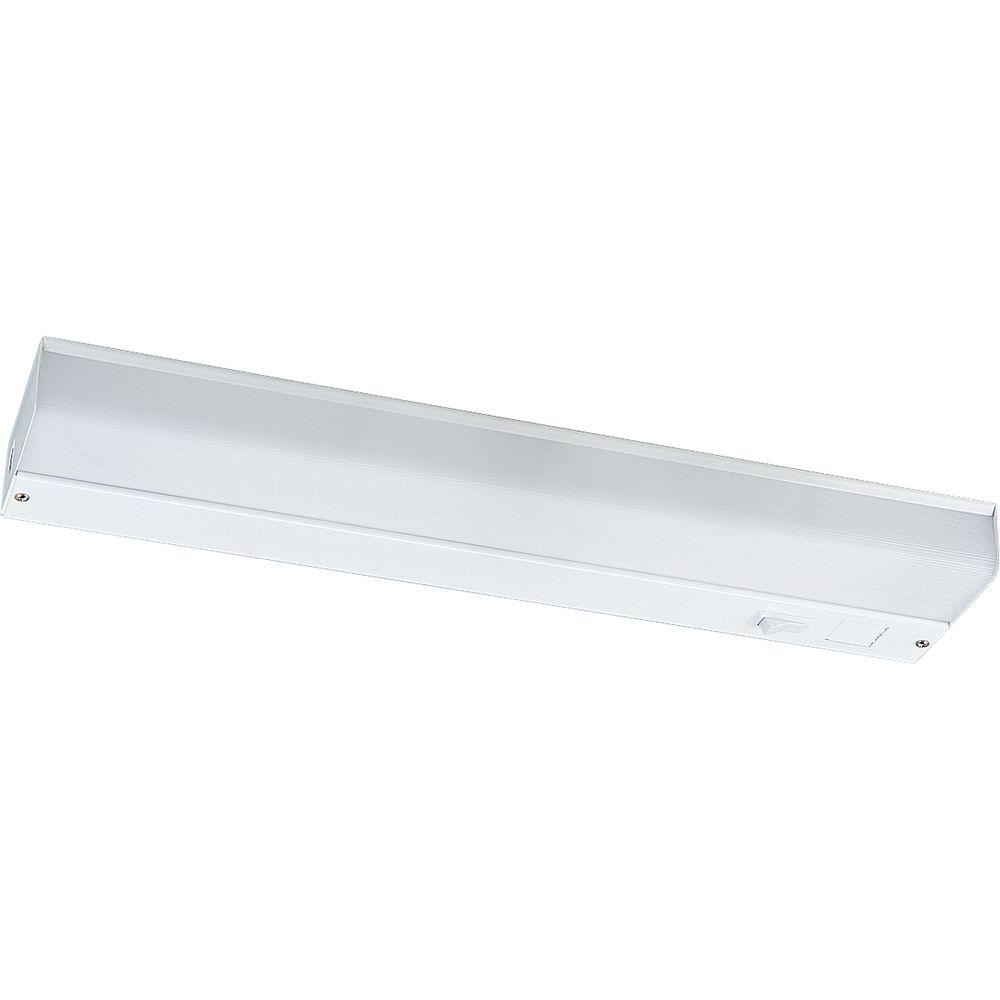 Can A Fluorescent Light Fixture Go Bad: Progress Lighting White 18 In. Undercabinet Fixture-P7019