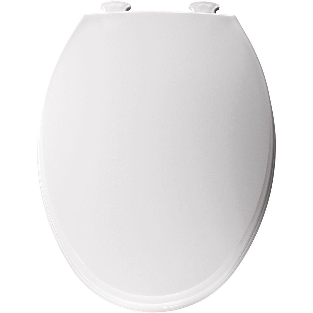 easy home toilet seat. Church Elongated Closed Front Toilet Seat in White 130EC 000  The Home Depot