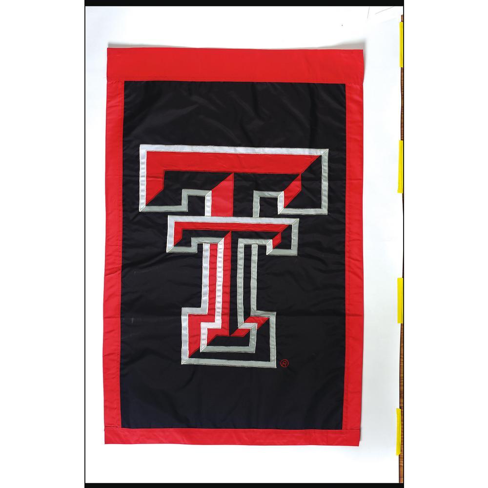 2.4 ft. x 3.6 ft. Texas Tech University Applique House Flag