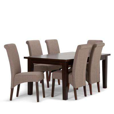 Avalon 7-Piece Light Mocha Dining Set