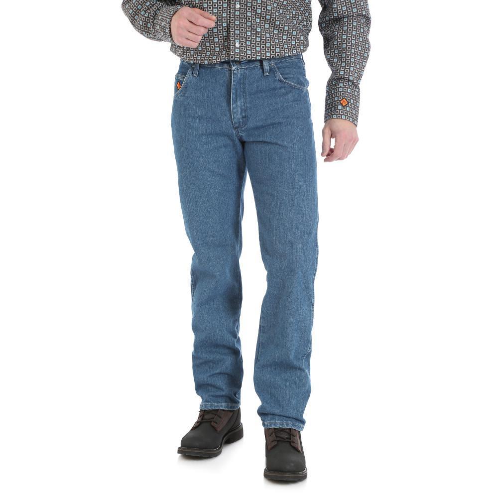 Men's Size 38 in. x 34 in. True Blue Regular Fit Jean