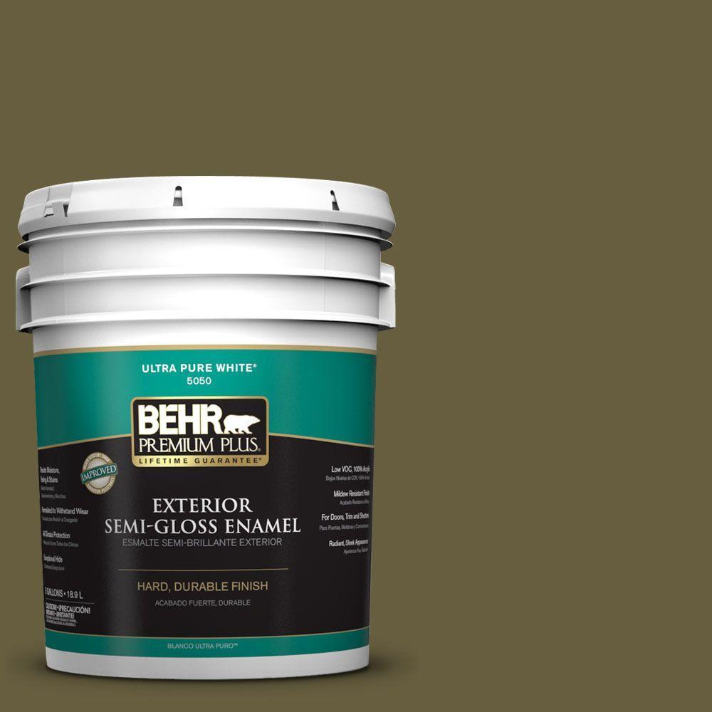 5-gal. #ICC-88 Classic Olive Semi-Gloss Enamel Exterior Paint