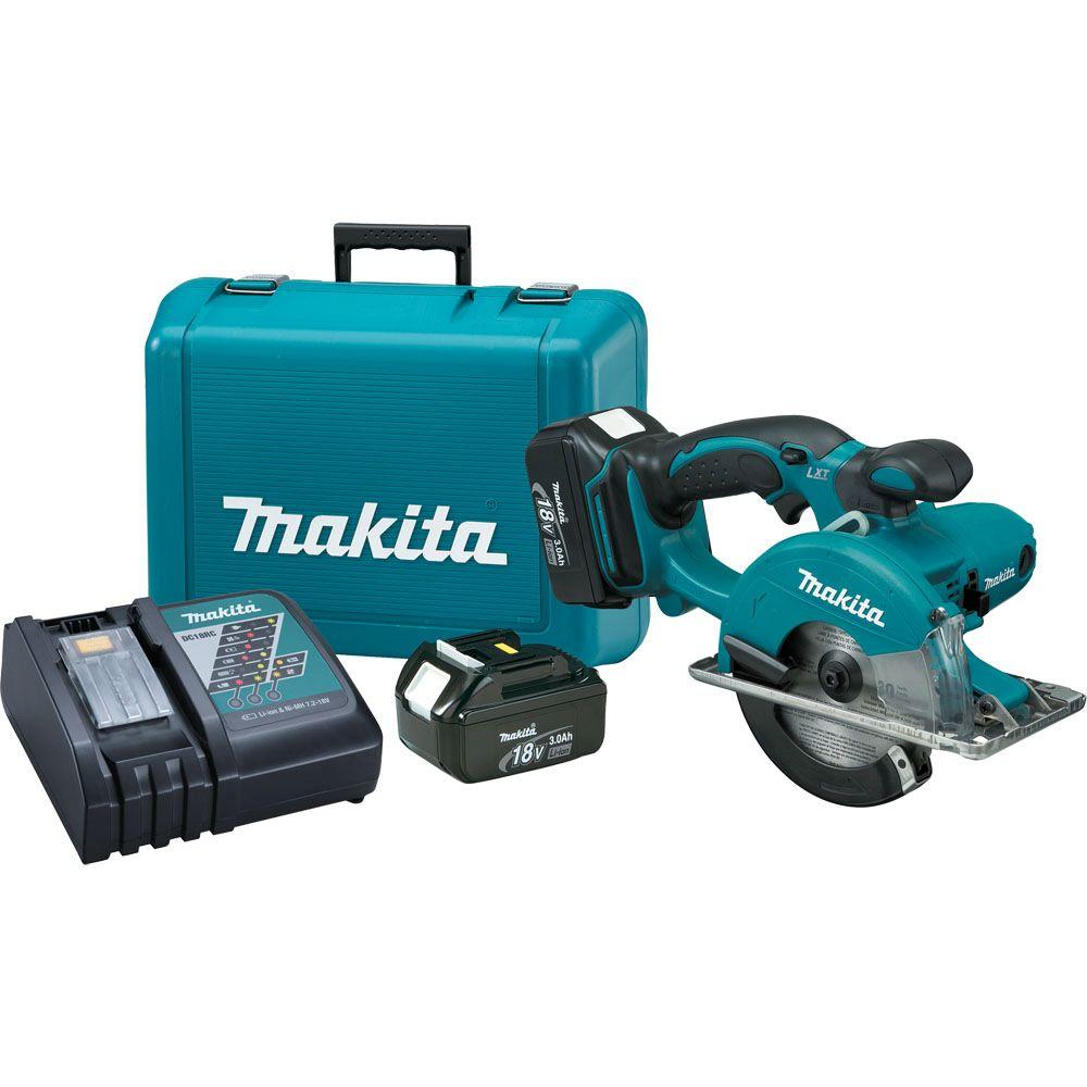 Makita 18-Volt LXT Lithium-Ion 5-3/8 in. Cordless Metal Cutting Saw Kit