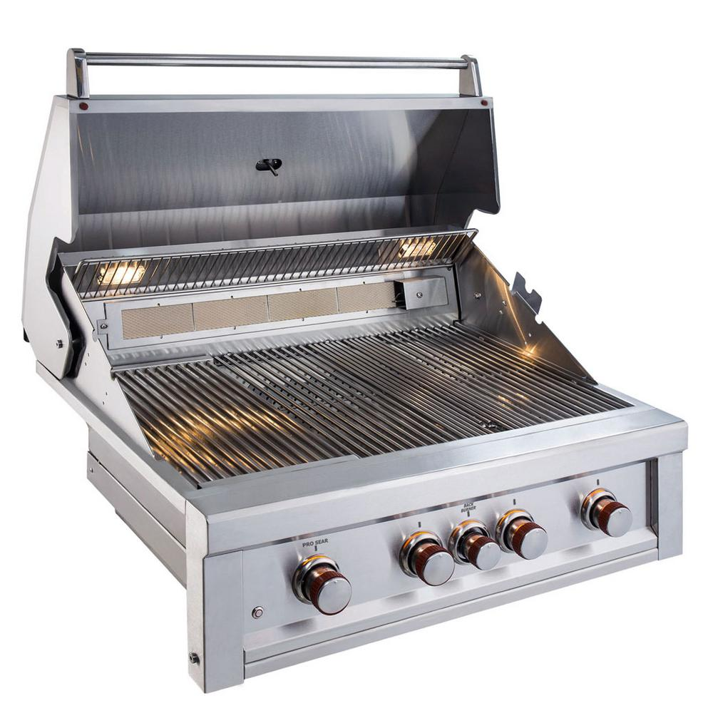 Ruby 4-Burner Pro-Sear 36 in. Built-In Gas Grill with Infrared and