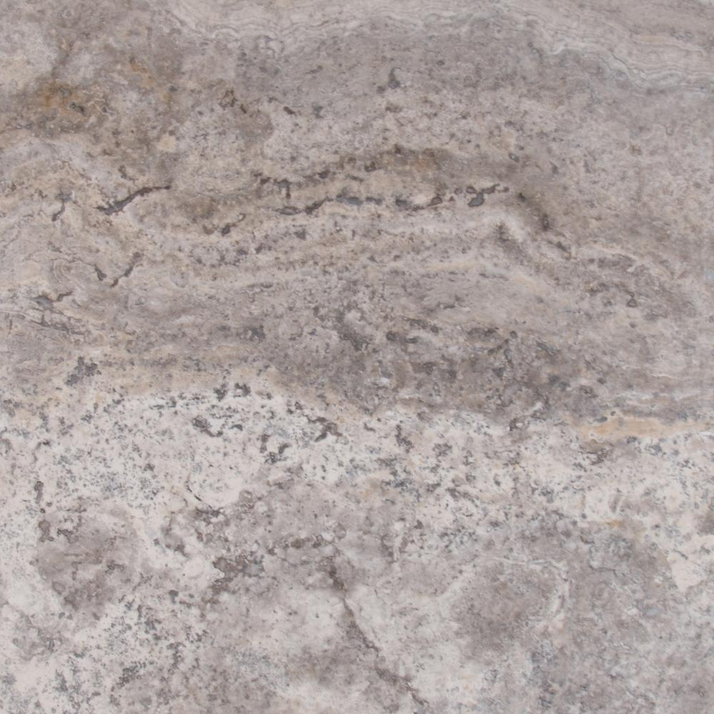 Travertine Kitchen Tile White Grey Brown