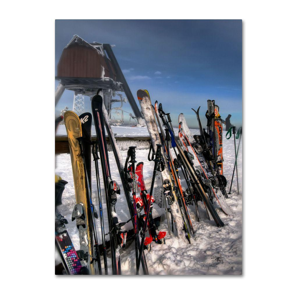 null 19 in. x 14 in. Ski Gear Canvas Art