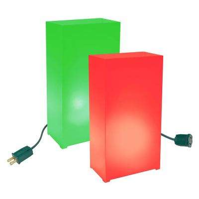 Red and Green Light Electric Luminaria Kit (10-Count String)
