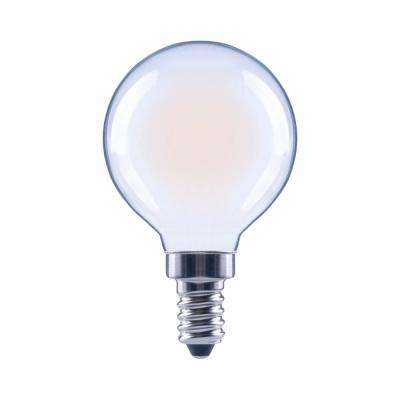 60-Watt Equivalent G16.5 Globe Dimmable Energy Star Frosted Glass Filament Vintage LED Light Bulb Daylight (48-Pack)