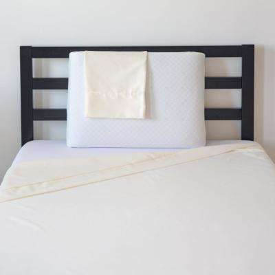 Back To School 3-Piece Twin Pillow, Protector, and Ivory Sheets Set