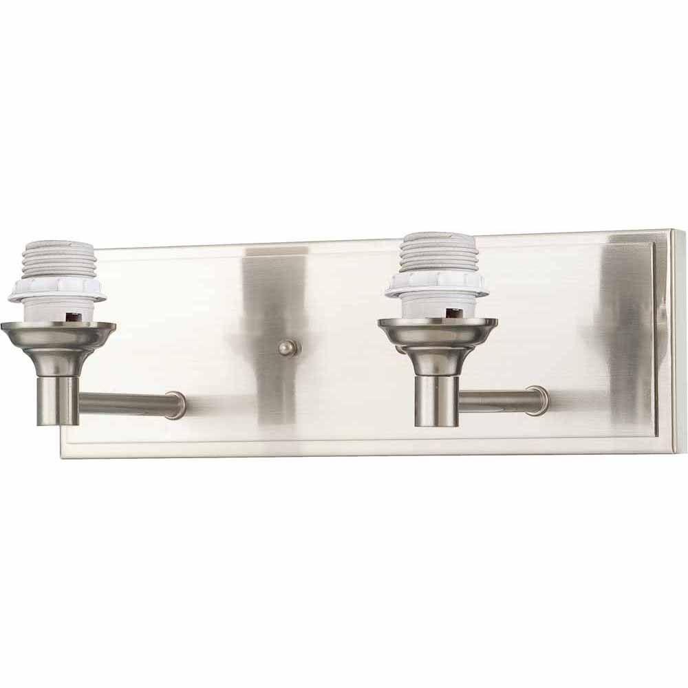 Lenor 2-Light Brushed Nickel Incandescent Wall Bath Vanity Light