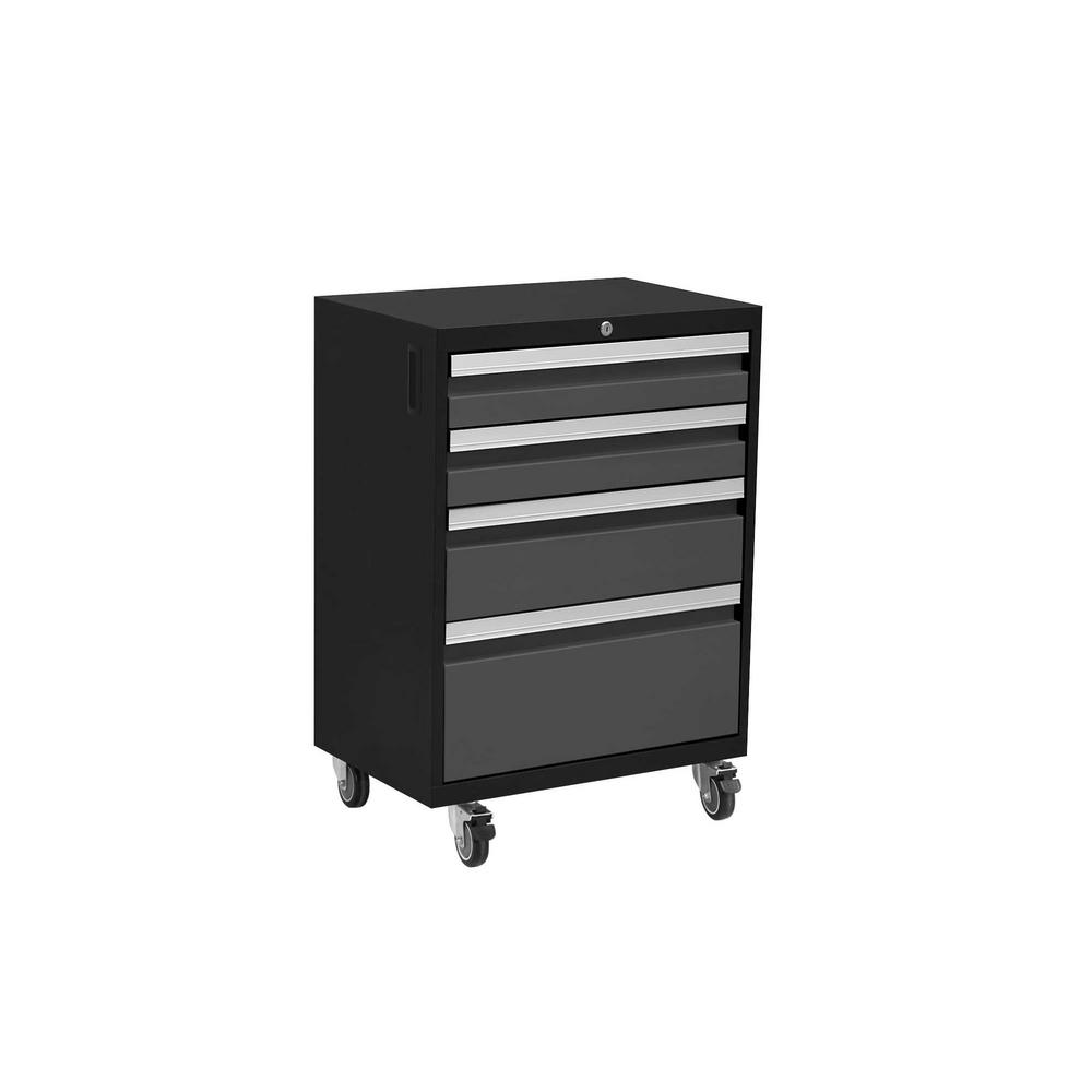NewAge Products Bold Series 20.75 in. W x 33 in. H x 16 in. D 24-Gauge Welded Steel Mobile Tool Drawer Cabinet in Gray