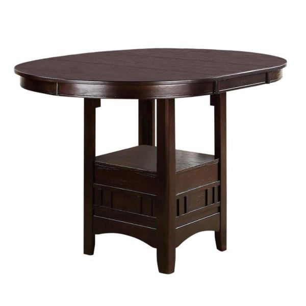 Brown Wooden Counter Height Table