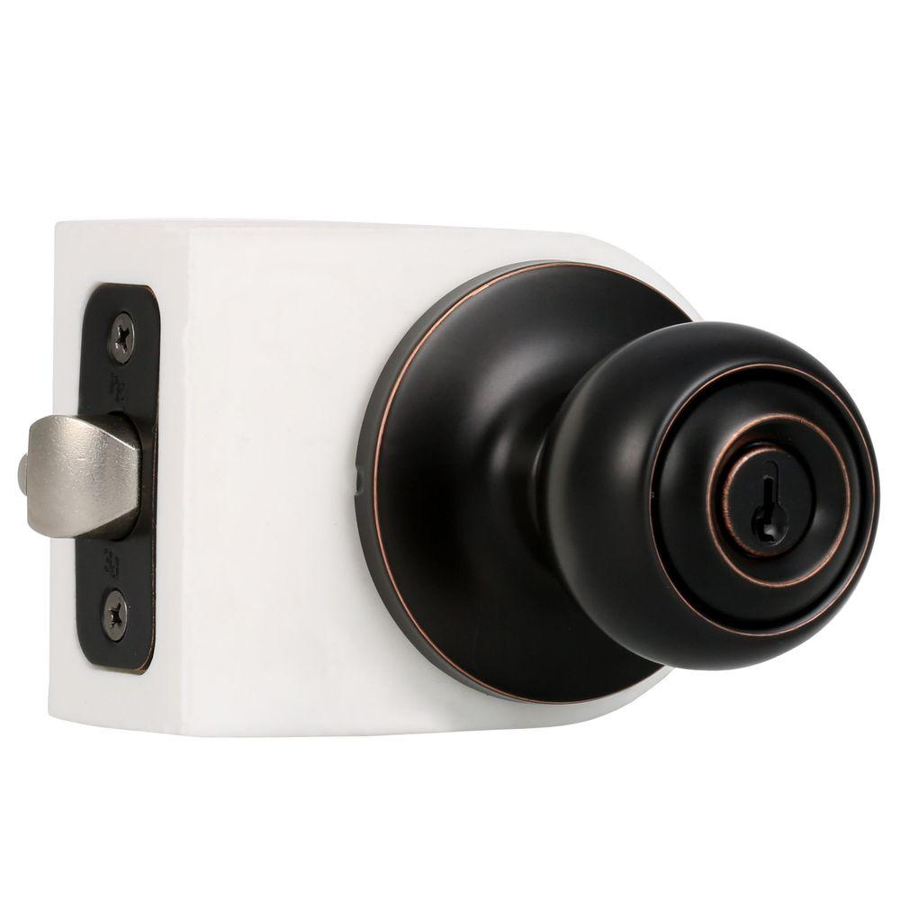 Weslock premiere essentials oil rubbed bronze keyed entry for 1 3 4 door knob