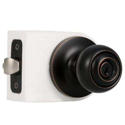 Premiere Essentials Oil-Rubbed Bronze Keyed Entry Hudson Knob