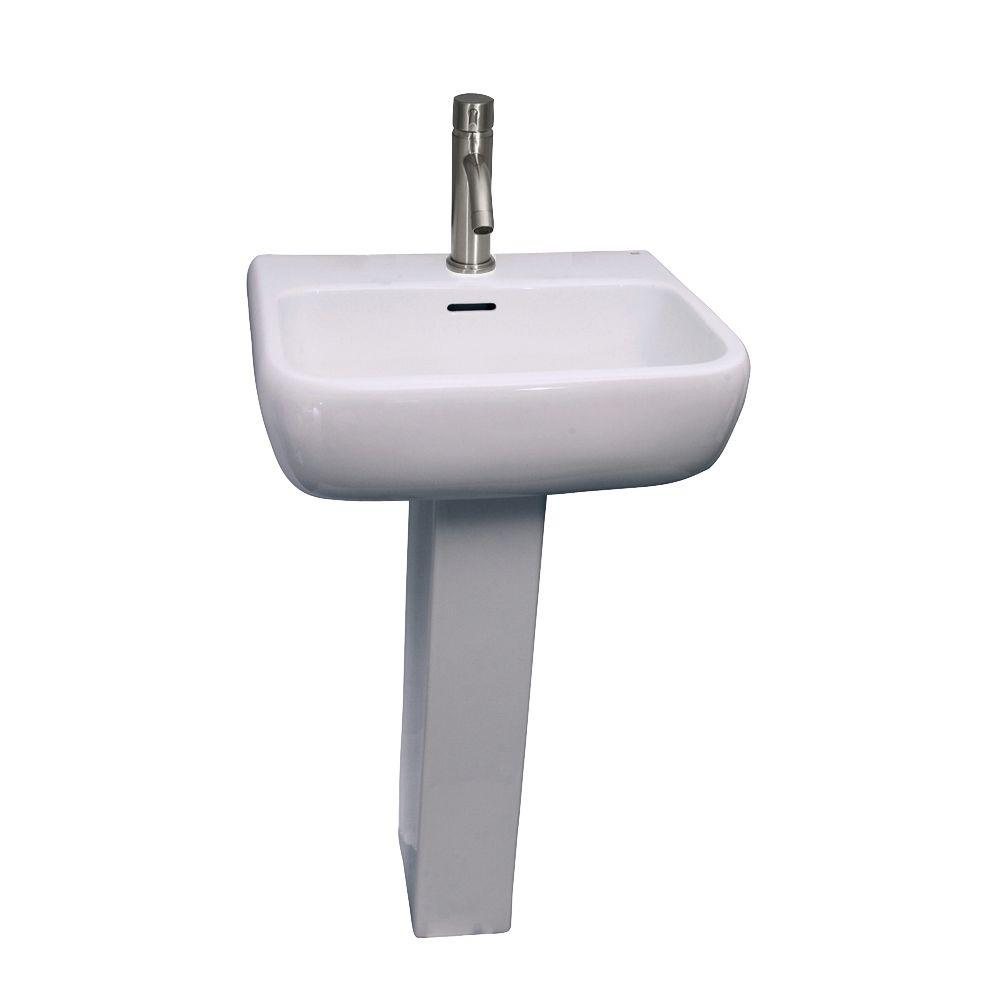 Barclay Products Metropolitan 600 Pedestal Combo Bathroom Sink in White