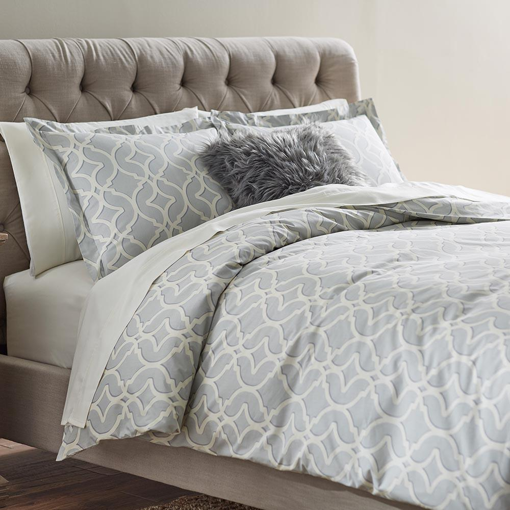 Home Decorators Collection Nuri Pewter King Duvet