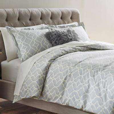 Nuri Pewter Twin Duvet