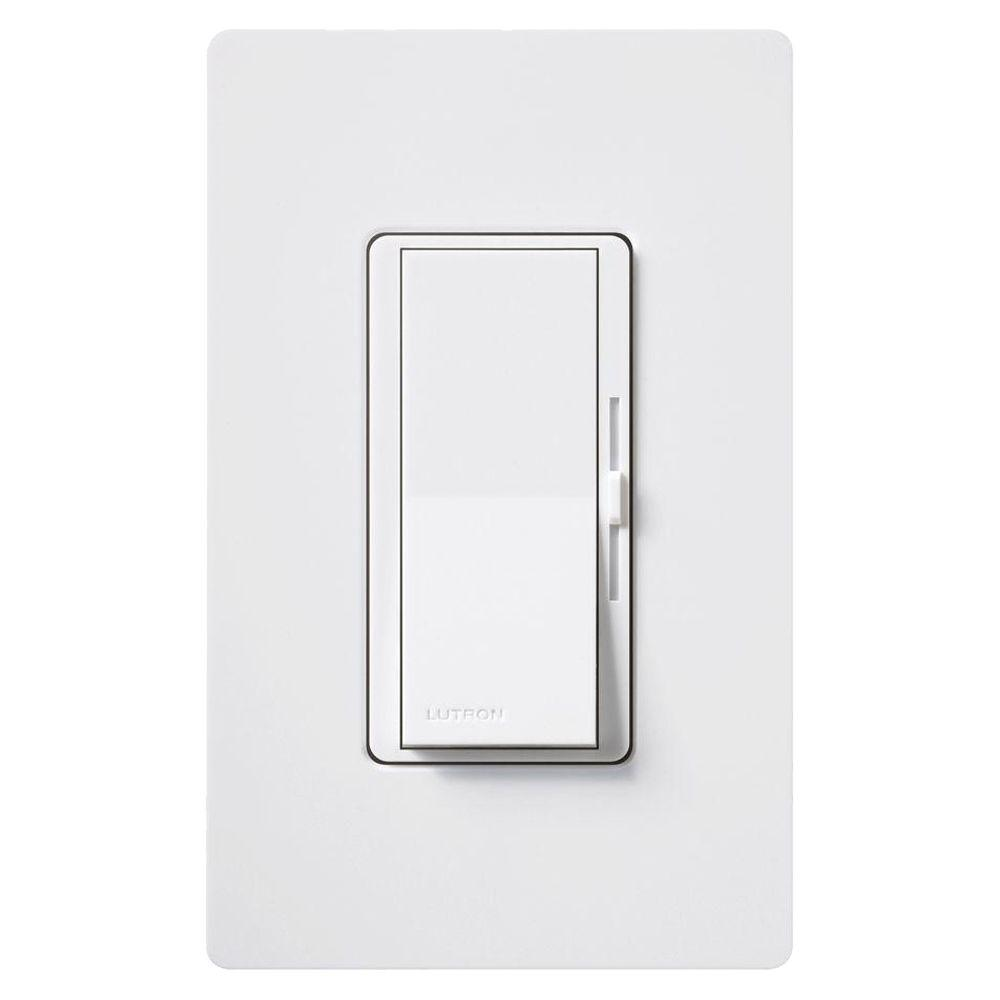 lutron diva electronic low voltage dimmer 300 watt single pole or 3 way white dvelv 303p wh the home depot