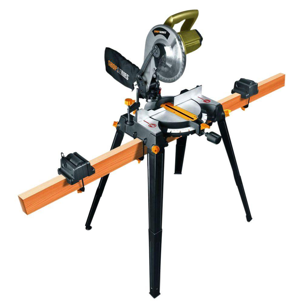 Shop Series 10 in. 14 Amp Miter Saw with Stand