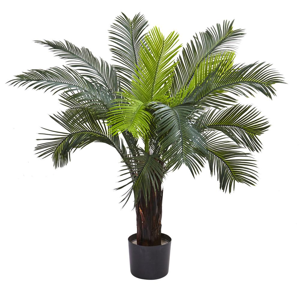 Nearly Natural Indoor And Outdoor 3 Ft Artificial Cycas Tree Uv Resistant 6817 The Home Depot