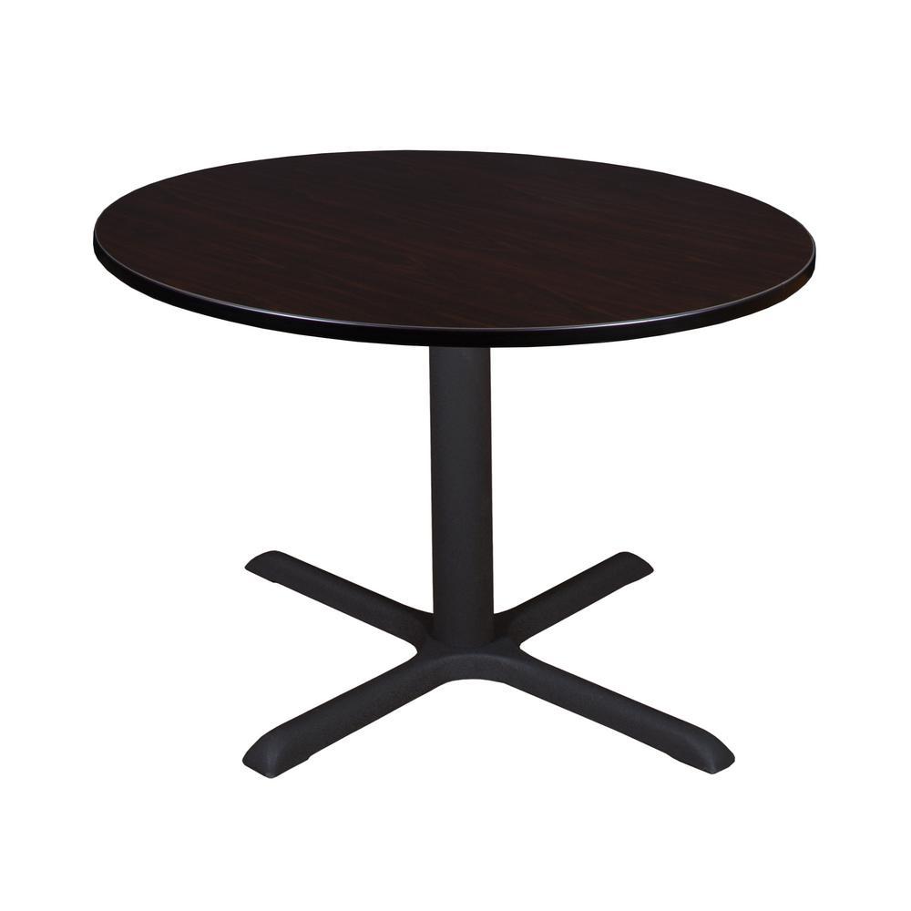 Cain Mocha Walnut 48 in. Round Breakroom Table