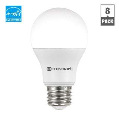 60W Equivalent Soft White A19 Energy Star and Non Dimmable LED Light Bulb (8-Pack)
