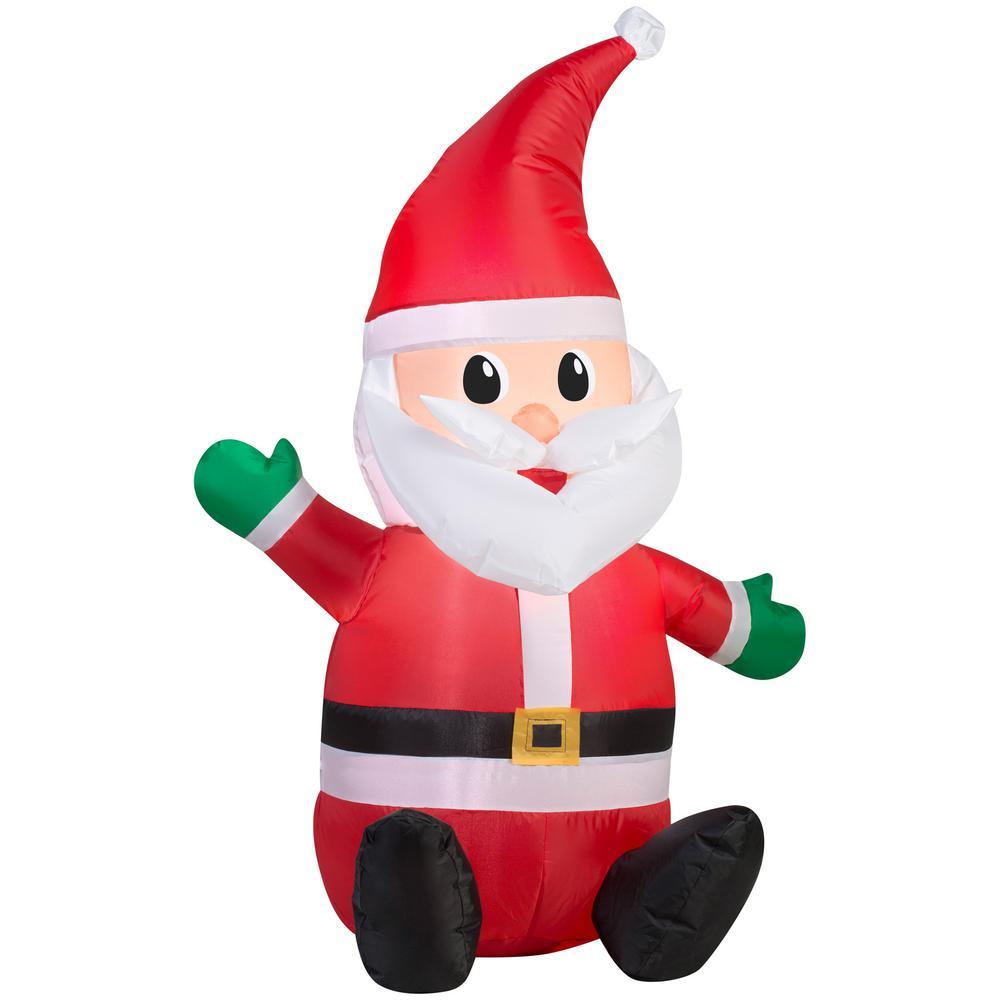 National Tree Company 3.5 ft. Inflatable Santa-GE9-39030-1 - The ...