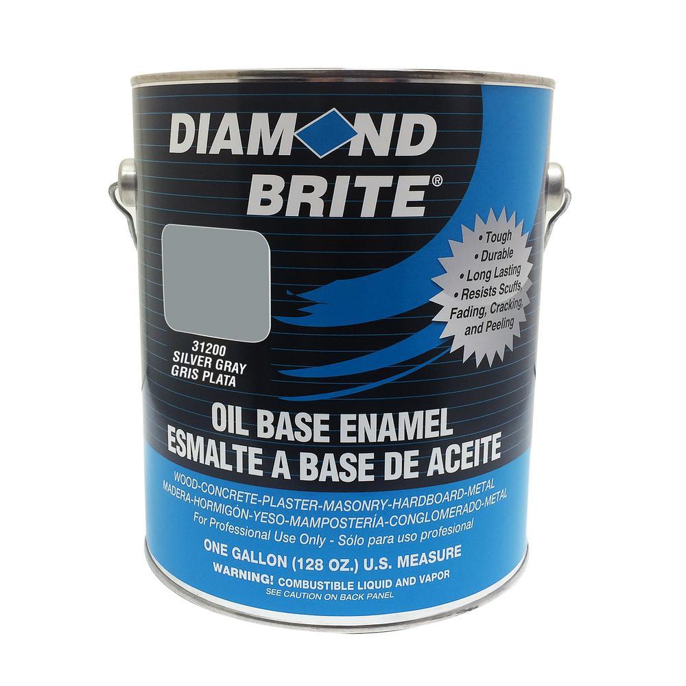 Diamond Brite Paint 1 gal. Silver Gray Oil Base Enamel Interior/Exterior Paint