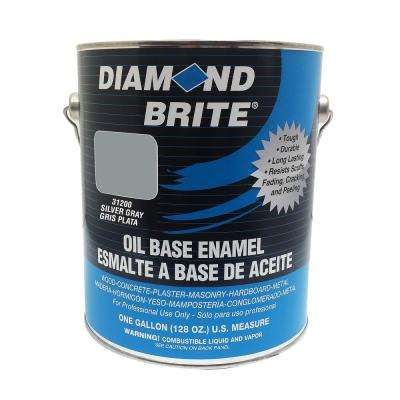 1 gal. Silver Gray Oil Base Enamel Interior/Exterior Paint