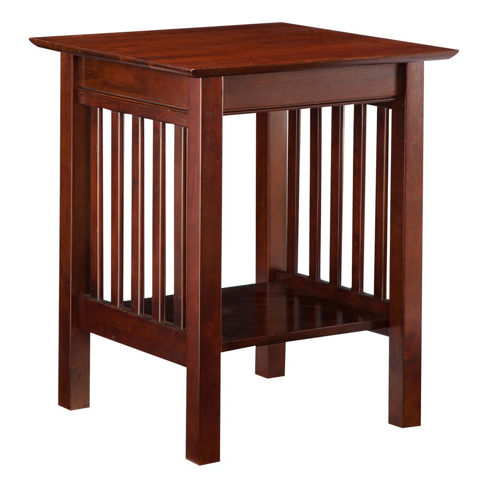 Atlantic Furniture Mission Walnut Printer Stand