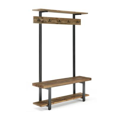 Pomona Entryway Hall Tree with Bench, Shelves and Coat Hooks