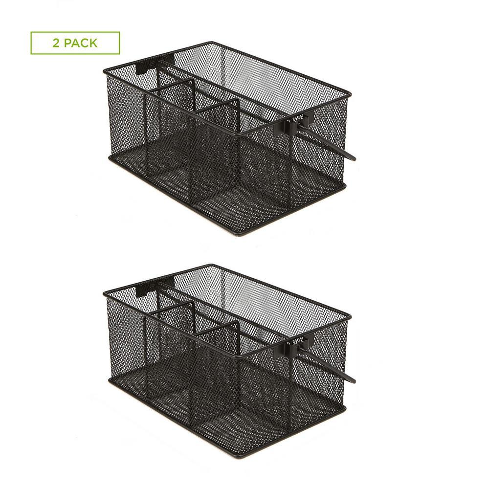 Basket Storage Organizer, Black (2-Pack)