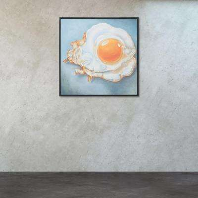 "30 in. x 30 in. ""Sunny Side Up"" Printed Canvas Wall Art"