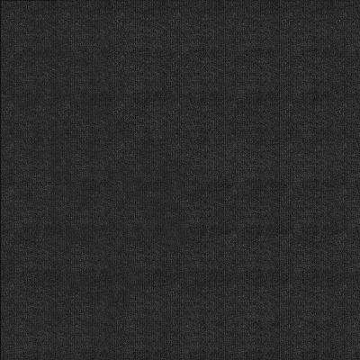 First Impressions Black Ice Ribbed Texture 24 in. x 24 in. Carpet Tile (15 Tiles/Case)