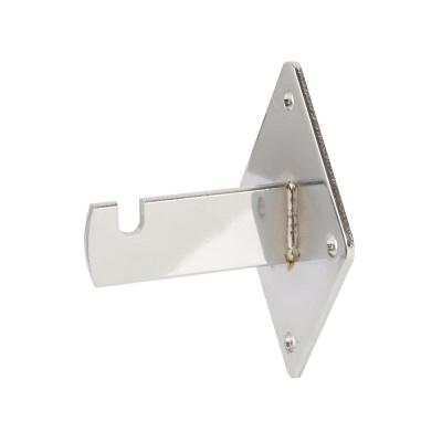 Wall Brackets for Grid Panels - Chrome Color - Box of 12-Pieces