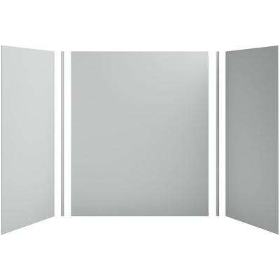 Choreograph 60in. X 36 in. x 72 in. 5-Piece Bath/Shower Wall Surround in Ice Grey for 72 in. Bath/Showers