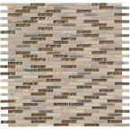 Diamante Brick 12 in. x 12 in. x 8 mm Glass Stone Mesh-Mounted Mosaic Wall Tile (10 sq. ft. / case)