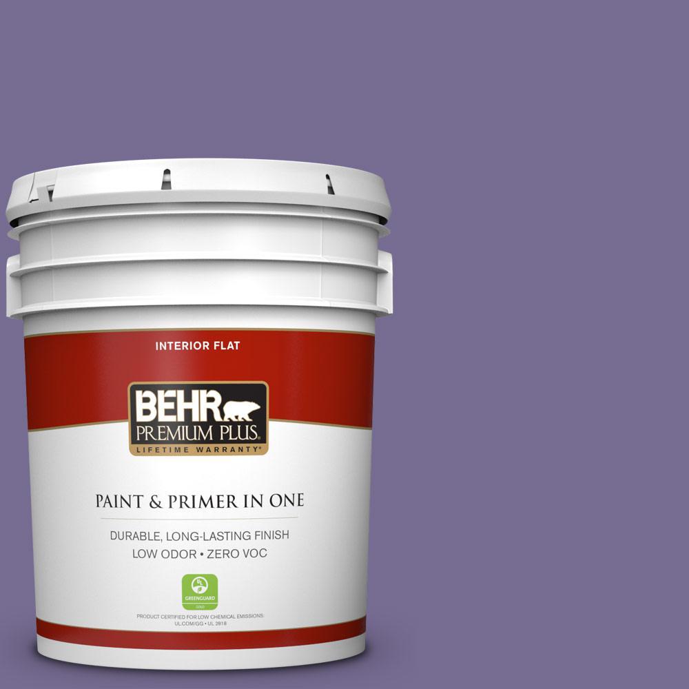 5 gal. #650D-6 Purple Silhouette Zero VOC Flat Interior Paint