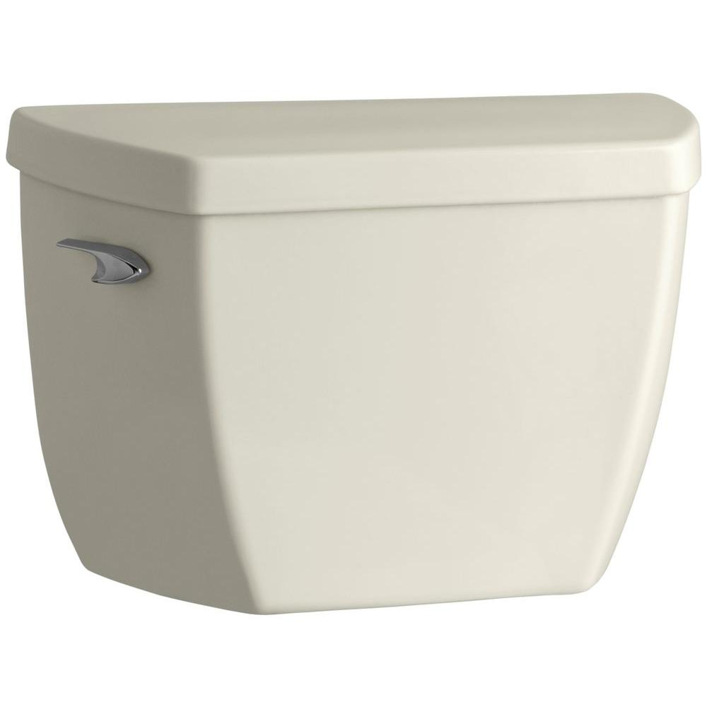 Highline 1.0 GPF Single Flush Toilet Tank Only in Biscuit