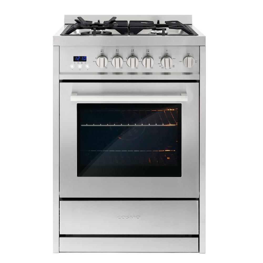 24 in. 2.73 cu. ft. Single Oven Gas Range with 4