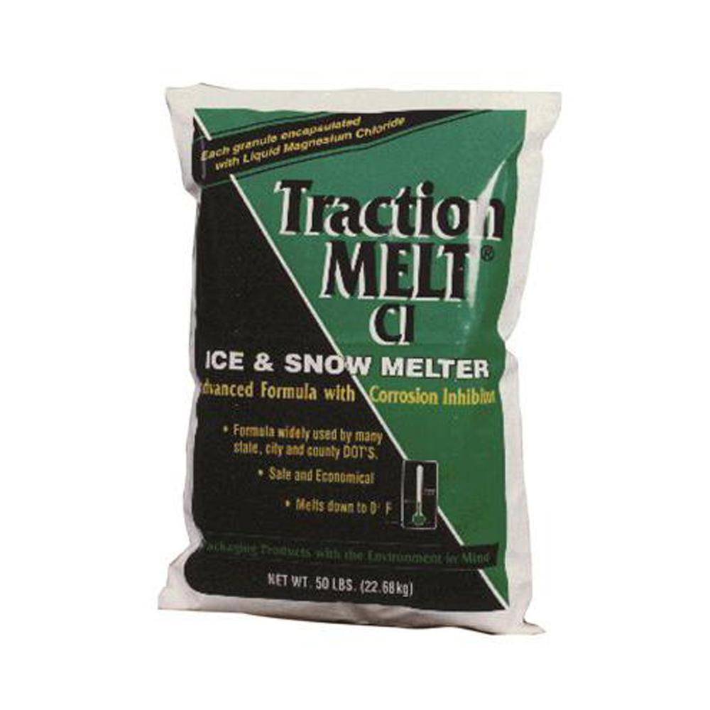 50 lbs. Traction Melt CI Magnesium Chloride Ice Melt