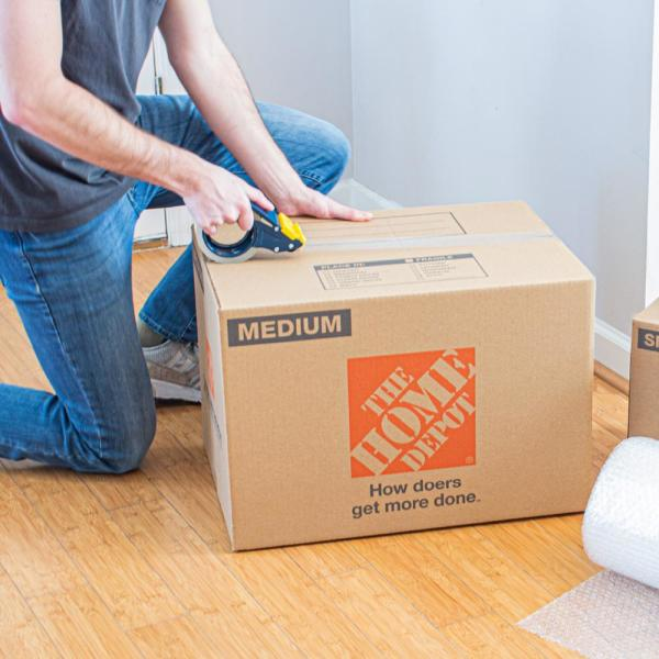 The Home Depot Medium Moving Box 22 In L X 16 In W X 15 In D Mdmvebx The Home Depot