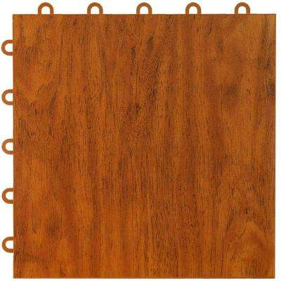 Max Tile 12 in. x 12 in. x 5/8 in. Cherry Vinyl Interlocking Raised Modular Floor Tile (Case of 26)